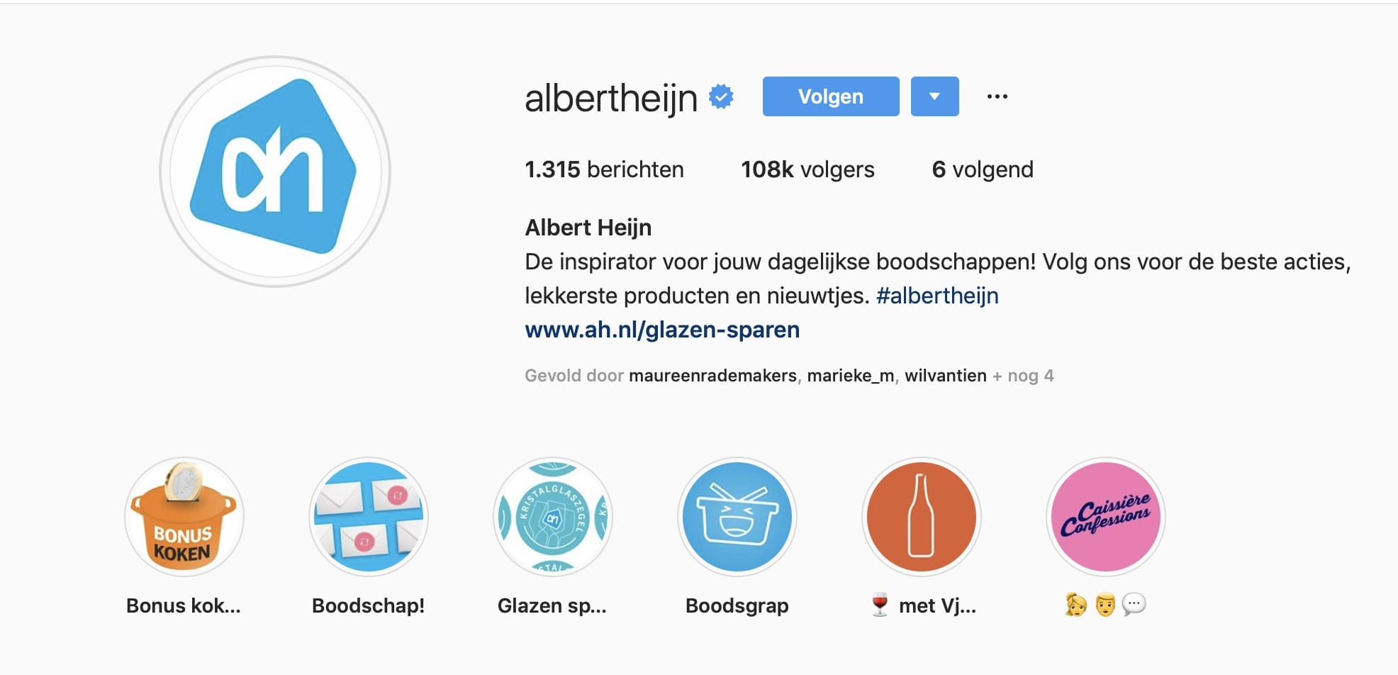 Albert Heijn Instagram
