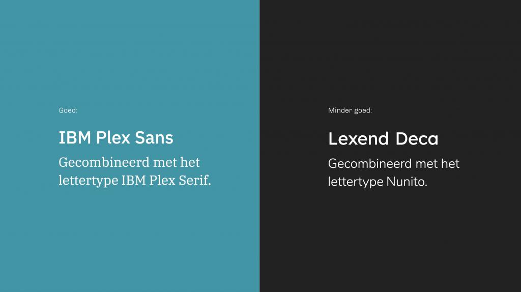 voorbeeld font pairing