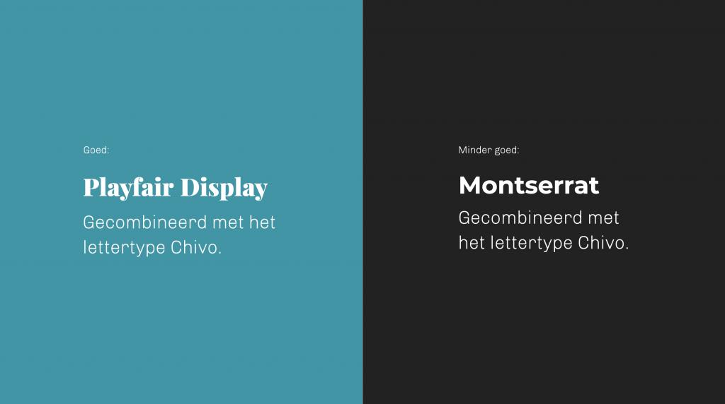 voorbeeld van lettertypen combineren