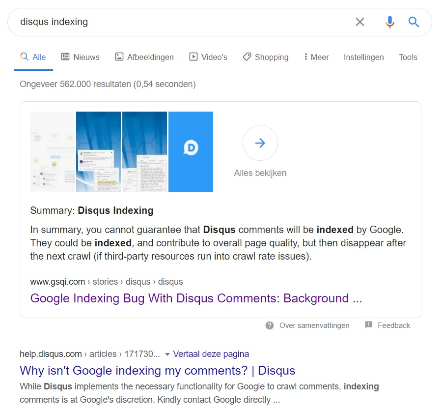 Google Web Story on SERP
