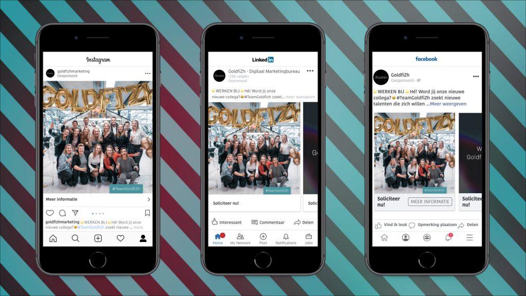 Voorbeelden social media advertenties